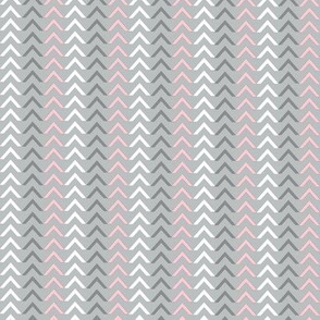 Arrow Grey / White / Pink