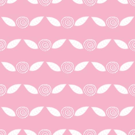 Roses on Pink Lemonade fabric by anniedeb on Spoonflower - custom fabric