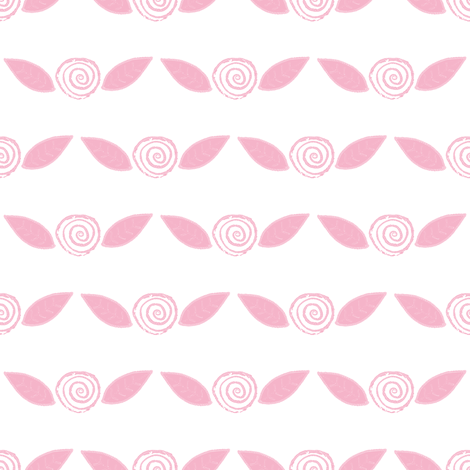 Pink Lemonade Roses on White fabric by anniedeb on Spoonflower - custom fabric