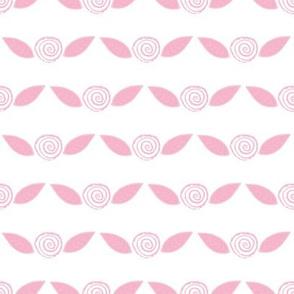 Pink Lemonade Roses on White