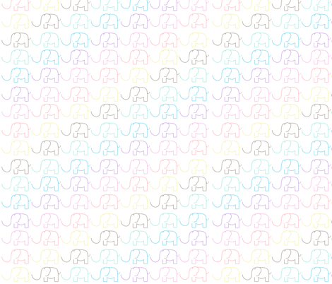 elephant parade diagonal fabric by arrpdesign on Spoonflower - custom fabric
