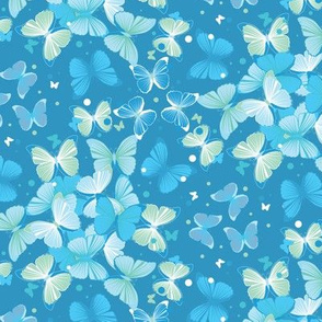Seamless colorful butterfly wedding pattern illustration