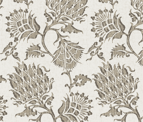 Contessa  / Taupe fabric by willowlanetextiles on Spoonflower - custom fabric