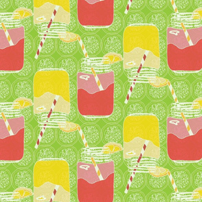 Quenchy/ Lemonade/ Mason Jars