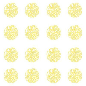 Lemon Slice Tiles/ White