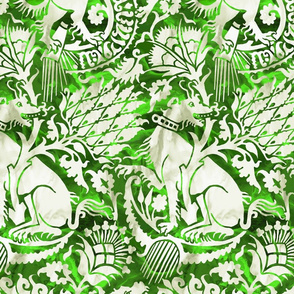 Renaissance Damask in Malachite