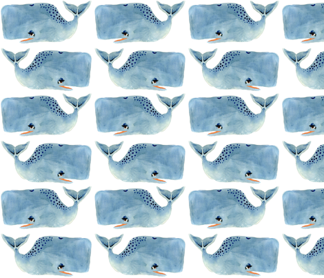 Whale Party! fabric by taraput on Spoonflower - custom fabric