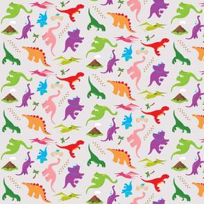 Dinofabric Grey