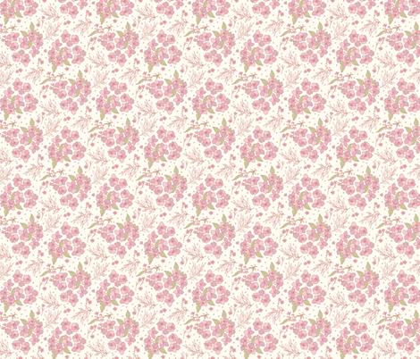 wildflower-ditsy-pink fabric by studiohesed on Spoonflower - custom fabric