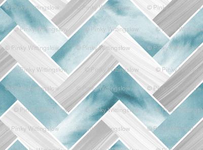 Herringbone Parquetry - Powder Blue