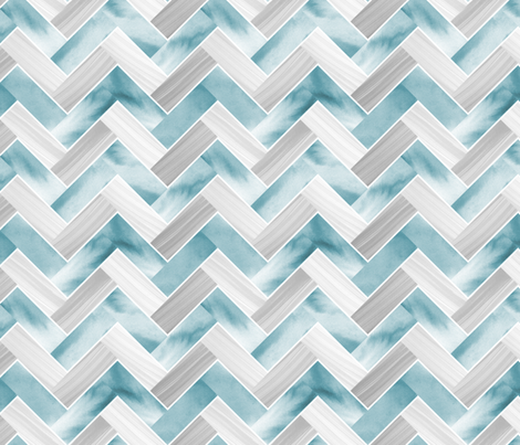 Herringbone Parquetry - Powder Blue fabric by pinky_wittingslow on Spoonflower - custom fabric