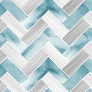 Herringbone Parquetry - Powder Blue