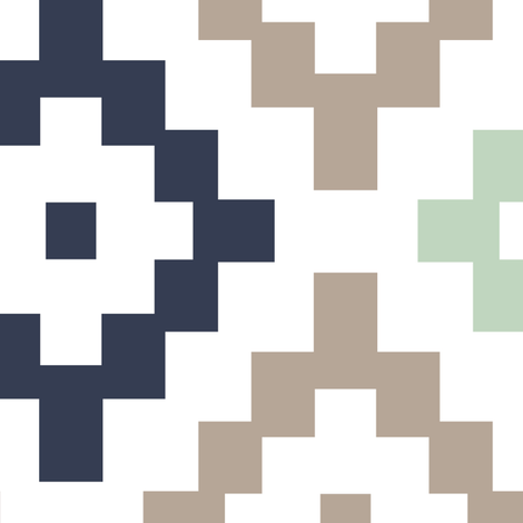 Diamonds fabric by laurawrightstudio on Spoonflower - custom fabric