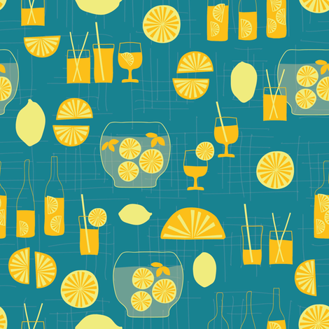 Lemonade Party fabric by maedchenwahn_illustration on Spoonflower - custom fabric