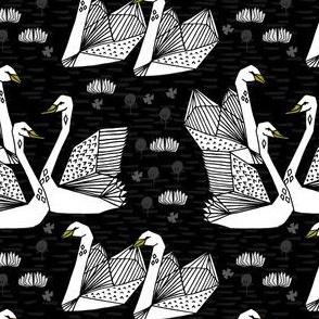 swan // swans geo origami geometric swan bird elegant
