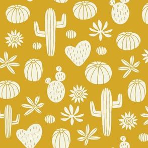Llama Cactus mustard