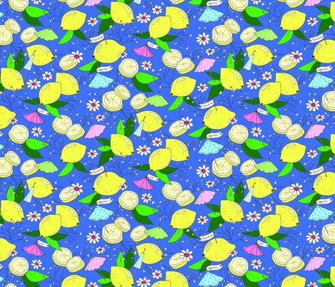 Sunshine, Happiness, and Lemonade fabric by emmakisstina on Spoonflower - custom fabric