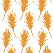Foxtail - Pumpkin Orange on White