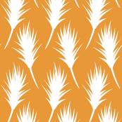 Foxtail - White on Pumpkin Orange
