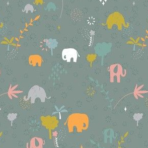 Ditsy Jungle Elephant Stories