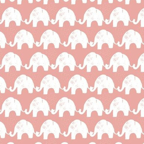 Elephant Stories Stripes on Pink