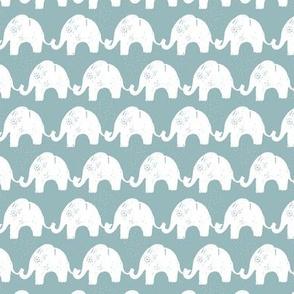 Elephant Stories Stripes on Blue