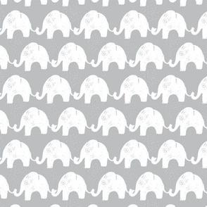 Elephant Stories Stripes on Grey
