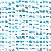 watercolor floating dashes - blue