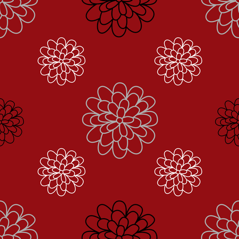 Floral Series Red fabric by aunt_rosie on Spoonflower - custom fabric