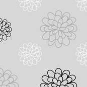 Floral Series Gray