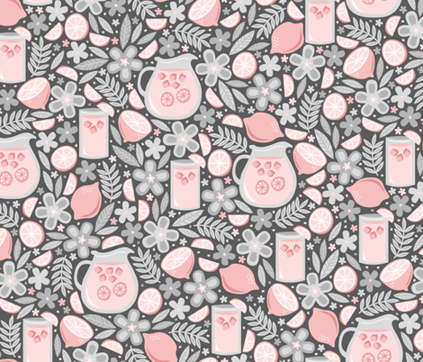 Evening Glass of Pink Lemonade fabric by robyriker on Spoonflower - custom fabric
