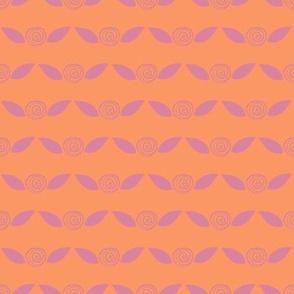 Raspberry Rosettes on Orange Sherbet