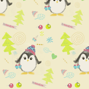 Penguins Whimsy Winter