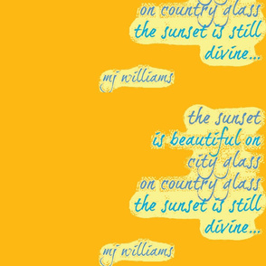 Poem/Sunset/ mustard
