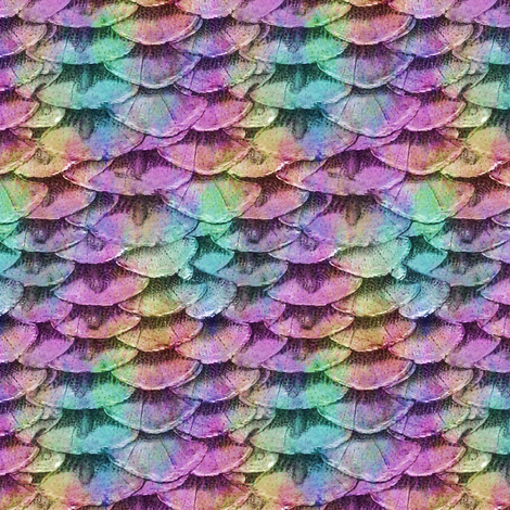 Mermaid Scales  fabric by peacoquettedesigns on Spoonflower - custom fabric
