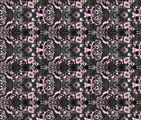 this is halloween haunted house damask pale pink rotated fabric by peacoquettedesigns on - Halloween Lace Fabric