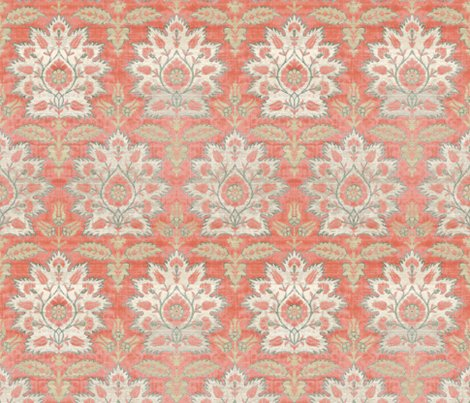 Rrcarnations_and_tulips_damask_ikat___mint_and_coral____peacoquette_designs___copyright_2015_shop_preview