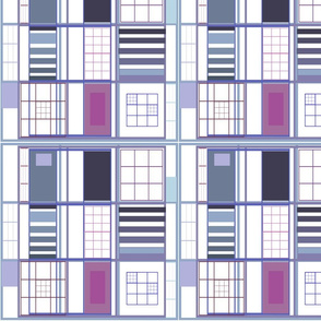 Cuadricula Blue Purple  / Lady Cat ™