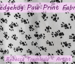 Hedgehog Paw Prints and Tracks