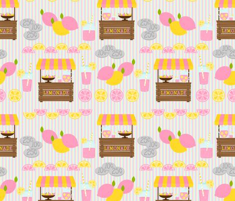 Pink Lemonade Stand fabric by lunastone_crafts on Spoonflower - custom fabric