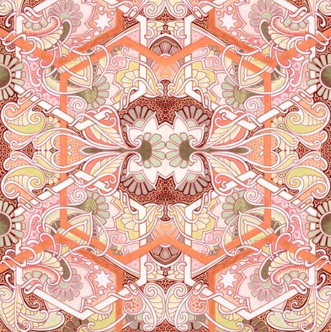 Peachy Love Garden fabric by edsel2084 on Spoonflower - custom fabric