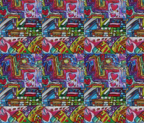 Heart Felt Treasure fabric by diconnollyart on Spoonflower - custom fabric