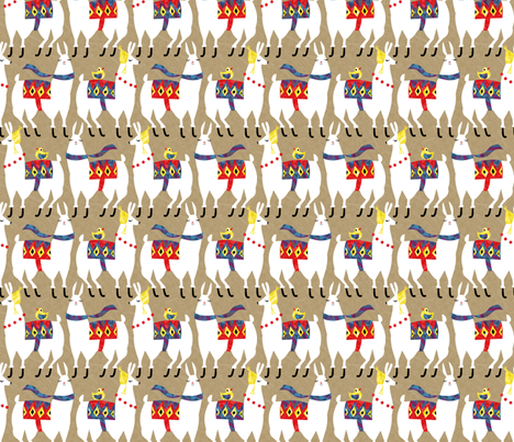 llamas4 fabric by gaiamarfurt on Spoonflower - custom fabric