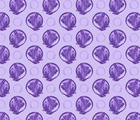 Collared Silky Terrier portraits - purple fabric by rusticcorgi on Spoonflower - custom fabric