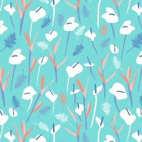 Tropical field blue