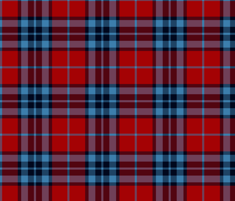 Thomson / Thompson / MacTavish tartan - red fabric by weavingmajor on Spoonflower - custom fabric
