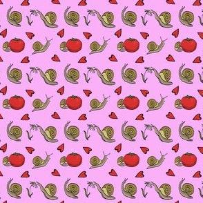 Pink Content Snails