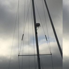 sailboat riggings gray day