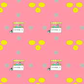 lemonade stand pink background