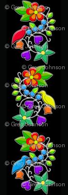 Medicine Bird Floral Fabric Biskakone Spoonflower